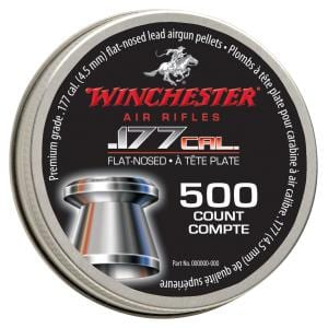 Winchester .177 Flat-Nosed Pellets tin of 500 count